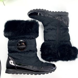Coach Joyous Black Winter Boots with Fur Size 9.5